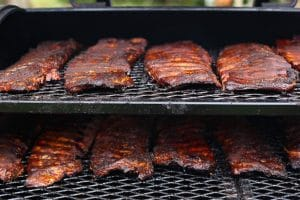 ribs in a smoker