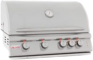 Blaze 32 Inch 4-Burner Gas Grill With Rear Burner And Built-In Lighting System