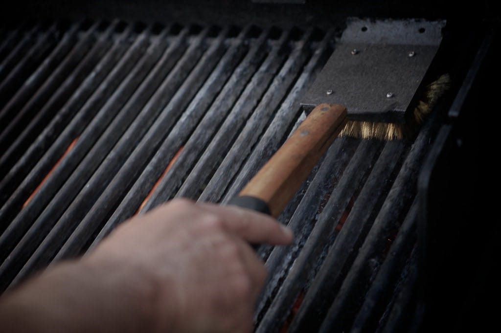 how to clean infrared grill
