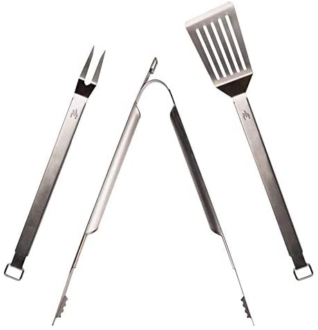 tongs spatula and a meat fork